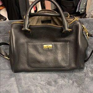 JCrew pebbled Brompron satchel